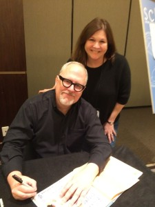 Me with Bill Joyce, getting a few of my favorite books signed.