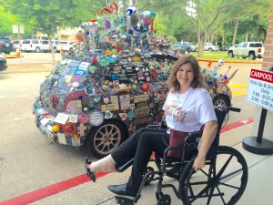 "Despite rupturing my Achilles tendon, I found a way to attend my recent book launch events for ""Arthur Zarr's Amazing Art Car."""