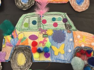 "Cathey's author visit often inspires ""art car creativity!"""